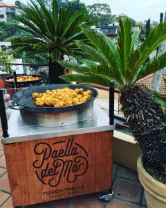 paella del mar pop up cart